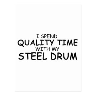 Quality Time Steel Drum Postcard