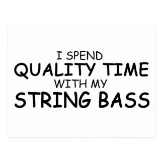 Quality Time String Bass Postcard
