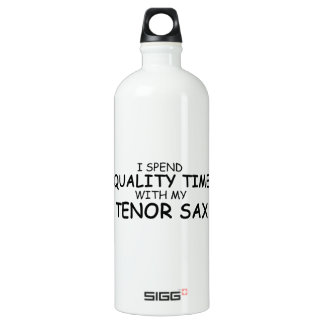 Quality Time Tenor Sax Aluminum Water Bottle