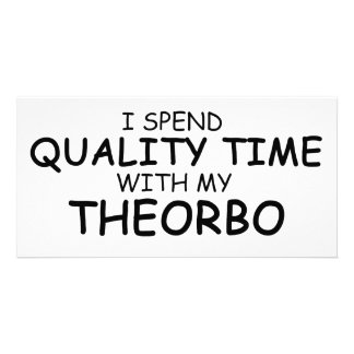 Quality Time Theorbo Personalized Photo Card