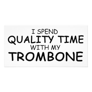 Quality Time Trombone Picture Card