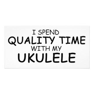 Quality Time Ukulele Photo Card