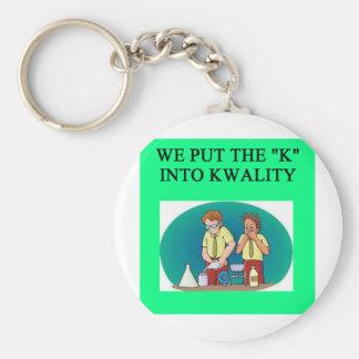 QUALITY work joke Keychains