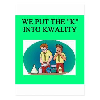QUALITY work joke Postcard