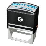 "[ Thumbnail: ""Quality Work!"" Teacher Rubber Stamp ]"
