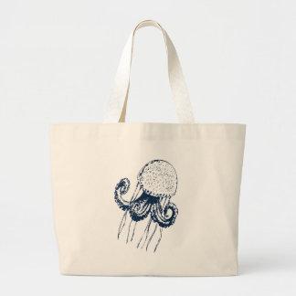 qualle jellyfish fish ocean meer gift geschenk large tote bag