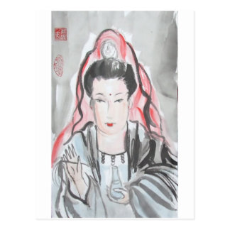 Quan Yin Goddess of Compassion Postcard