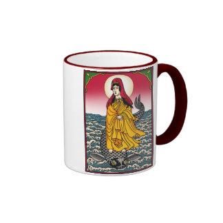 Quan Yin with Dharmachakra Ringer Coffee Mug