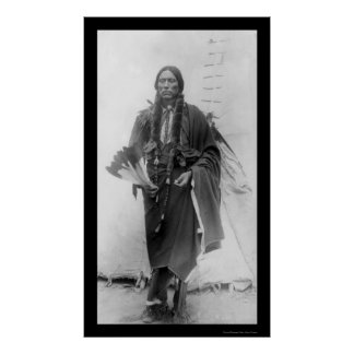Quanah Parker, Comanche Indian Chief 1909 Poster