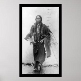 Quanah Parker jefe indio 1909 del Comanche Posters