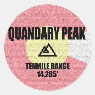 Quandary Peak Classic Round Sticker