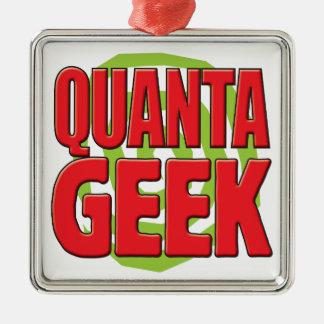 Quanta Geek Square Metal Christmas Ornament