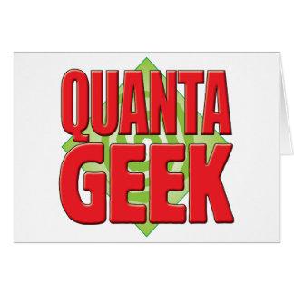 Quanta Geek v2 Greeting Card