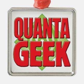 Quanta Geek v2 Square Metal Christmas Ornament