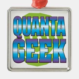 Quanta Geek v3 Square Metal Christmas Ornament