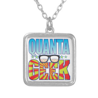 Quanta Geek v4 Square Pendant Necklace