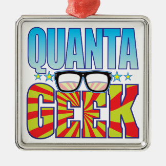 Quanta Geek v4 Square Metal Christmas Ornament