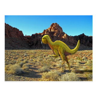 Quantasarus in desert postcard