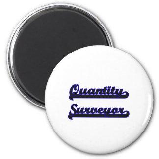 Quantity Surveyor Classic Job Design 2 Inch Round Magnet