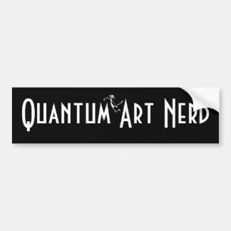 Quantum Art Nerd© with floating Alien Bumper Sticker