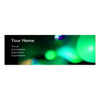 QUANTUM BUBBLES 2 MONOGRAM Vibrant black green Double-Sided Mini Business Cards (Pack Of 20)