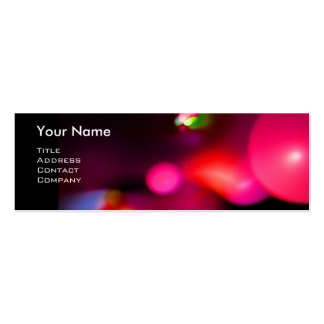 QUANTUM BUBBLES 2 MONOGRAM Vibrant black red Double-Sided Mini Business Cards (Pack Of 20)