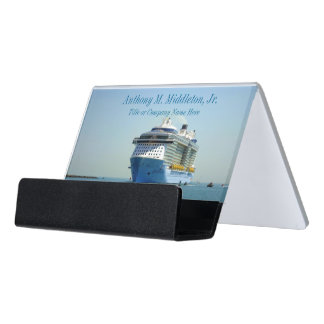 Quantum Comes Calling CH1P Personalized Desk Business Card Holder