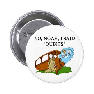 quantum computer joke 2 inch round button