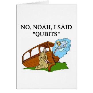 quantum computer joke greeting card