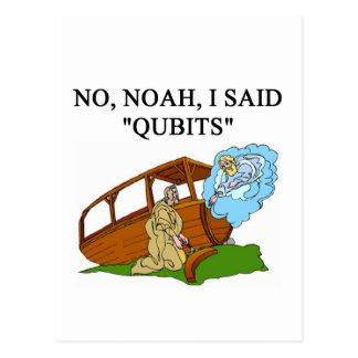 quantum computer joke postcard