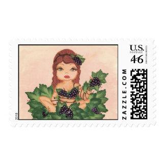 Quantum Cutie Grape Vine Girl Stamps