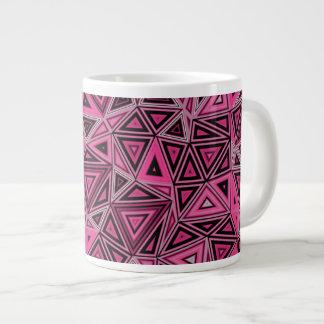 Quantum Geometry Pink Abstract Large Coffee Mug