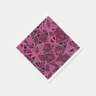 Quantum Geometry Pink Abstract Disposable Napkins
