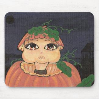 Quantum Kid in a Halloween Pumpkin Mousepad