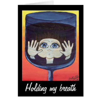 Quantum Kid in Wine Glass Thinking of You Greeting Card