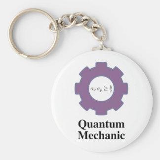 quantum mechanic basic round button keychain