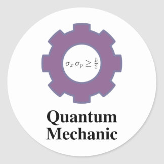 quantum mechanic classic round sticker