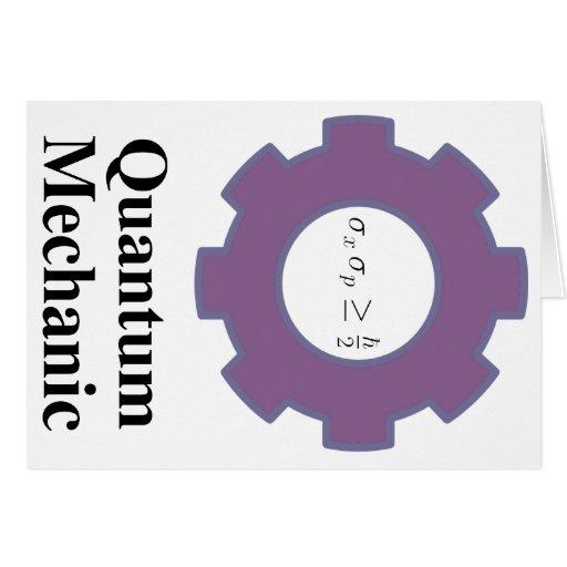 quantum mechanic greeting card