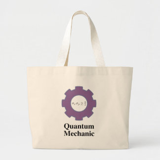 quantum mechanic jumbo tote bag