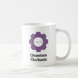 quantum mechanic classic white coffee mug
