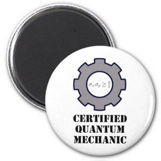quantum mechanic, uncertainty principle 2 inch round magnet