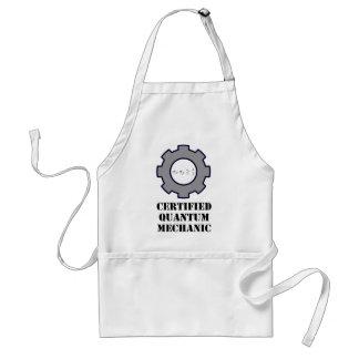 quantum mechanic, uncertainty principle adult apron