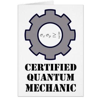 quantum mechanic, uncertainty principle card