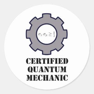 quantum mechanic, uncertainty principle classic round sticker