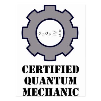 quantum mechanic, uncertainty principle postcard