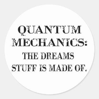 Quantum Mechanics Classic Round Sticker