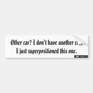 quantum mechanics joke bumper sticker car bumper sticker