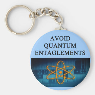 QUANTUM mechanics. Basic Round Button Keychain