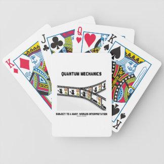 Quantum Mechanics Many Worlds Interpretation Bicycle Playing Cards