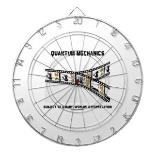 Quantum Mechanics Many Worlds Interpretation Dartboard With Darts